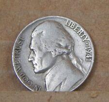 1941 moneda de 5 céntimos de níquel Americano EE. UU. Div 1 Segunda Guerra Mundial era moneda