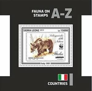 Sierra Leone - 2019 Stamp on Stamp WWF - Stamp Souvenir Sheet - SRL191002b3