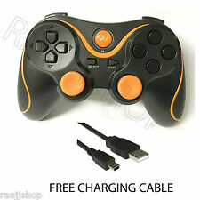 RECHARGEABLE HIGH QUALITY BLUETOOTH WIRELESS GAMEPAD CONTROLLER FOR PS3 ORANGE