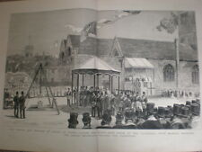 Prince of Wales (Edward VII) at Truro cathedral 1880 large old print