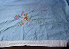 Ancien drap de bébé en coton brodé - linge ancien