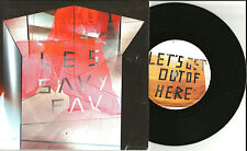 LES SAVY FAV Let's get out of Here / Sleepless LIMITED PROMO 7 INCH VINYL 2010