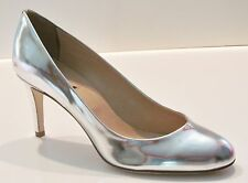J Crew Miri Metallic Pumps 10 Metallic Silver