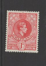 SWAZILAND GEORGE VI 1d RED MOUNTED MINT