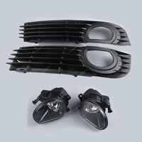 4Pcs Stoßstange Gitter Abdeckung Nebelscheinwerfer für Audi A8 4E D3