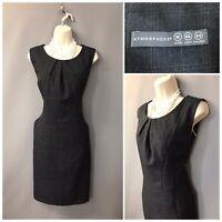 Atmosphere Dark Grey Pinstripe Check Sleeveless Office Formal Dress UK 18 EUR 46