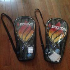 Ektelon Avenger Racquetball Racquet Pair With Carry Cases, Balls And Wrist Wraps