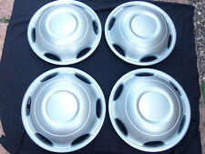 "16""TAXI TX1 TX2 TX4 DOMED WHEEL TRIMS SILVER set of 4 NEW"