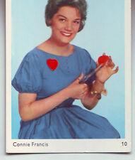 carte gum card -portrait Connie Francis - No 10 de la serie