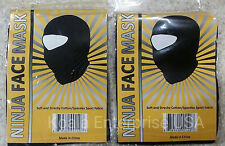 BALACLAVA BLACK NINJA FULL FACE MASK SPORT TACTICAL COSPLAY HAT (2 Lot)