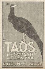 W9089 Lucida scarpe TAOS - Edoardo Pessi - Padova - Pubblicità del 1917 - Advert