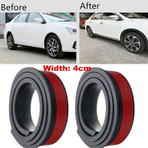 "Car Fender Flare Extension Wheel Eyebrow Moulding Trim Wheel 2x 59"" Arch Strip"