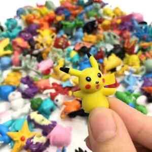 24 pcs Pokemon Mini PVC Action Figures Pikachu Charizard Toys Kids Gift Party