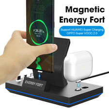 3in1 Magnetic (Wireless) Charger Fast Charging Station Dock For Samsung Huawei
