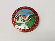 Vintage Red Mountain Ski Club Rossland British Columbia B.C. Lapel Pin Badge