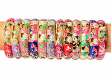 Wholesale Lots 12pcs Rhinestone Vintage Enamel Cloisonne Bangle charm Bracelet