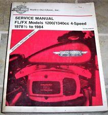 1982-1984 Harley Davidson FL FLH Electra Glide Shop Service Repair Manual