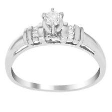 Runde solitäre Ringe aus Weißgold mit Diamanten