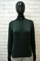 Maglione TRUSSARDI Felpa Donna Taglia M Pullover Sweater Cardigan Lana Verde