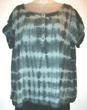 Ruff Hewn 2X multi-color tie dye short sleeve top