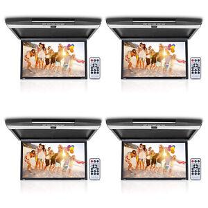 """Pyle PLRV1725 Flip Down Car Roof 17.3"""" Screen 1080p Multimedia Player (4 Pack)"""