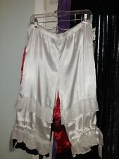 Large Vintage Adult Bloomers Victorian Edwardian Goth Pirate Saloon Gal White