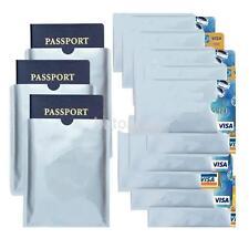 10PCS Aluminum Anti Theft Scan Credit Card Holder Aluminum RFID Blocking Sleeve