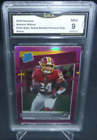 2020 Donruss Optic Antonio Gibson Pink Prizm Rookie Card #335 GMA Graded Mint 9