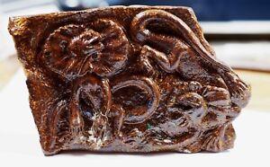 Queensland Boulder Opal Carved Frilled-necked Lizards 105x70x20 mm