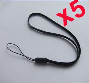 5 Packs Hand Wrist Strap For Camera, Mobile, iPad, iPod , MP3 - Black - UK Stock