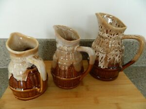 3 FRENCH CAFE WINE / WATER JUGS
