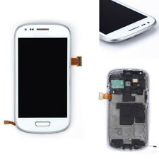 Full LCD Touch Screen Glass Digitizer Frame For Samsung Galaxy S3 Mini i8190 New