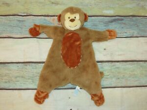 "Douglas Monkey Brown Orange Lovie Baby 1457 Soft Security Blanket Lovey Toy 19"""