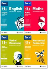 Bond 11+ English, Maths, Non-verbal Reasoning, Verbal Reasoning 7-8 Pack of 4