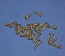 "23 Vintage #8 x 11/16"" Slotted Round Pan Head Antique Brass Wood Screws"