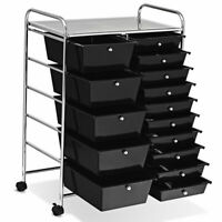 15 Drawer Rolling Cart Utility Multi-Use Organizer for Tools Scrapbook &Paper