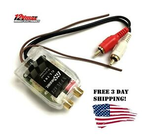 1 RCA Ground Loop Isolator Noise Audio Filter for Car Stereo EQ Amplifier