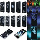 7-Color Light Cool Glow Luminous Back Skin Case Cover For Apple iPhone 5C 5S 4S