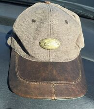 Golf Hat Nike Women's Leather Bill Adjustable Leather Strap EUC Brown and Taupe
