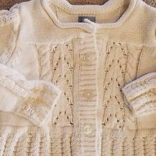 BABYGAP SIZE 6-12 MONTH CREAM KNIT BUTTON SWEATER ADORABLE