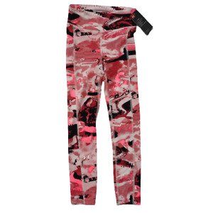 Under Armour Women's HeatGear Printed Leggings Mid Rise Ankle Crop Pink XS