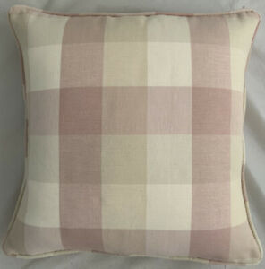 A 16 Inch cushion cover in Laura Ashley Mitford Chalk Pink Fabric
