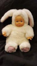 Anne GEDDES Bean riempito Collezione Bambola Baby Bunny Coniglio bianco da collezione
