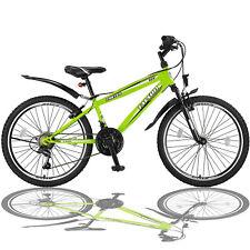 24 Zoll Mountainbike Fahrrad mit Gabelfederung Beleuchtung 21-GANG SHIMANO Grün