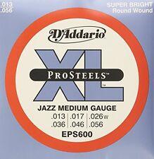 D'Addario Eps600 ProSteels Electric Guitar Strings, Jazz Medium, 13-56