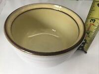 Vintage Noritake Stoneware Open Sugar Bowl 8637. Danana Yellow/brown Trim. Mint.