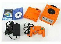 Nintendo Gamecube Console + Gameboy Player Enjoy Plus Pack Orange Japan FedEx