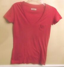 Aerie Pink V Neck Short Sleeve Cotton/Modal Pocket Front T-Shirt Size XS EUC