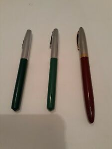 Vintage Fountain Pen Lot of 3 Sheaffer