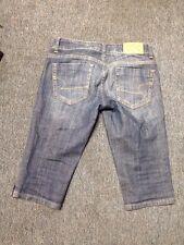 American Eagle Jean Shorts / Capri Ae Artist Size 0 Reg Double Button Design Sli